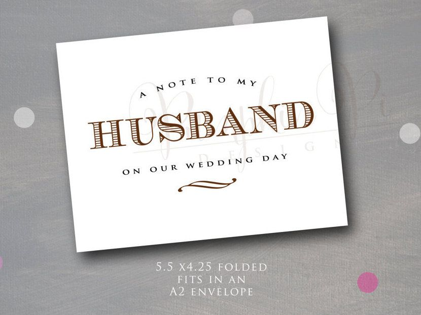 Gift For My Husband On Our Wedding Day: A Note To My Husband On Our Wedding Day, Wedding Day Decor