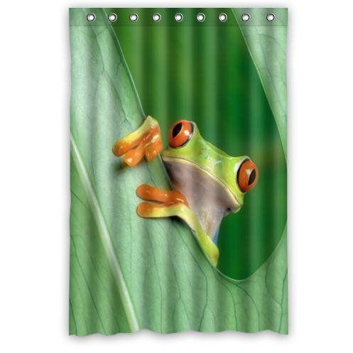 48 X 72 Inch Frog Shower Curtain Modern Waterproof Bathroom