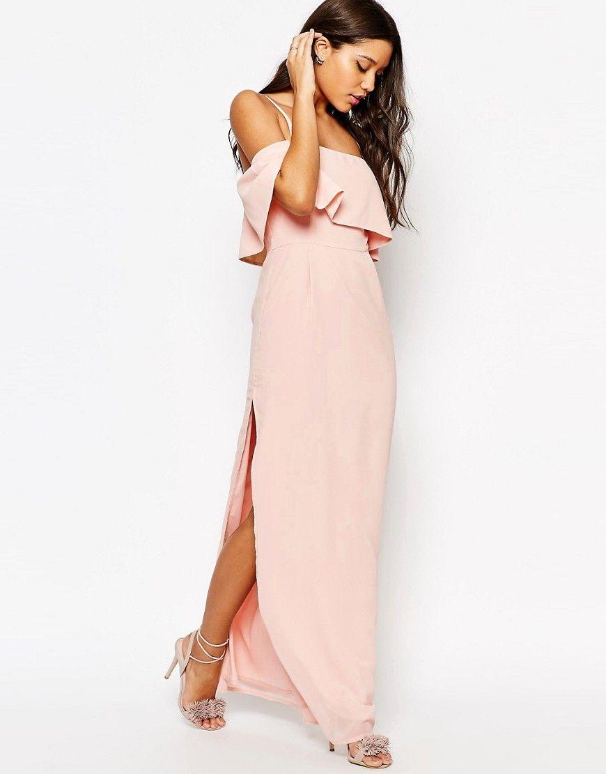 Image of asos cold shoulder maxi dress formal affair pinterest