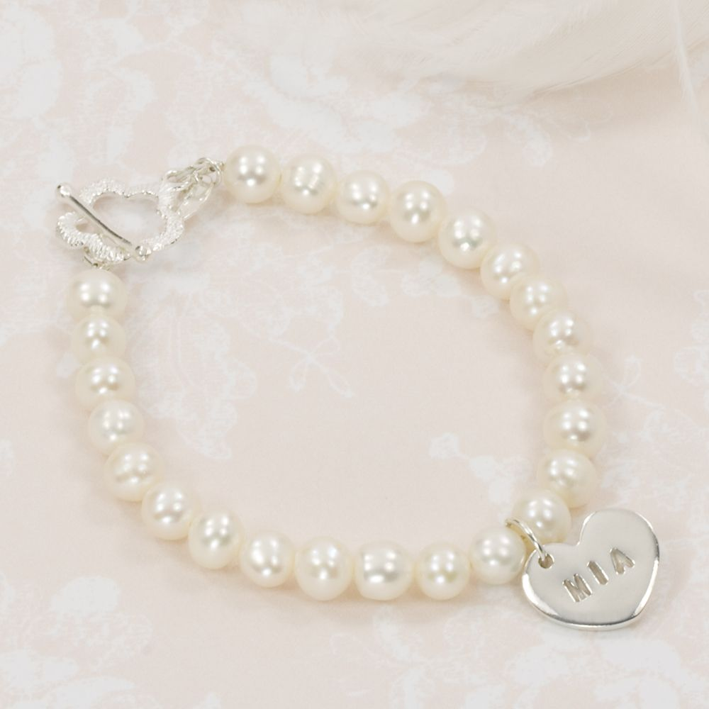 Personalised flower girl bracelet ehw pinterest flower girl