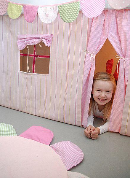 gardinen vorh nge hochbettvorhang f d spielbett hochbett ein designerst ck von. Black Bedroom Furniture Sets. Home Design Ideas