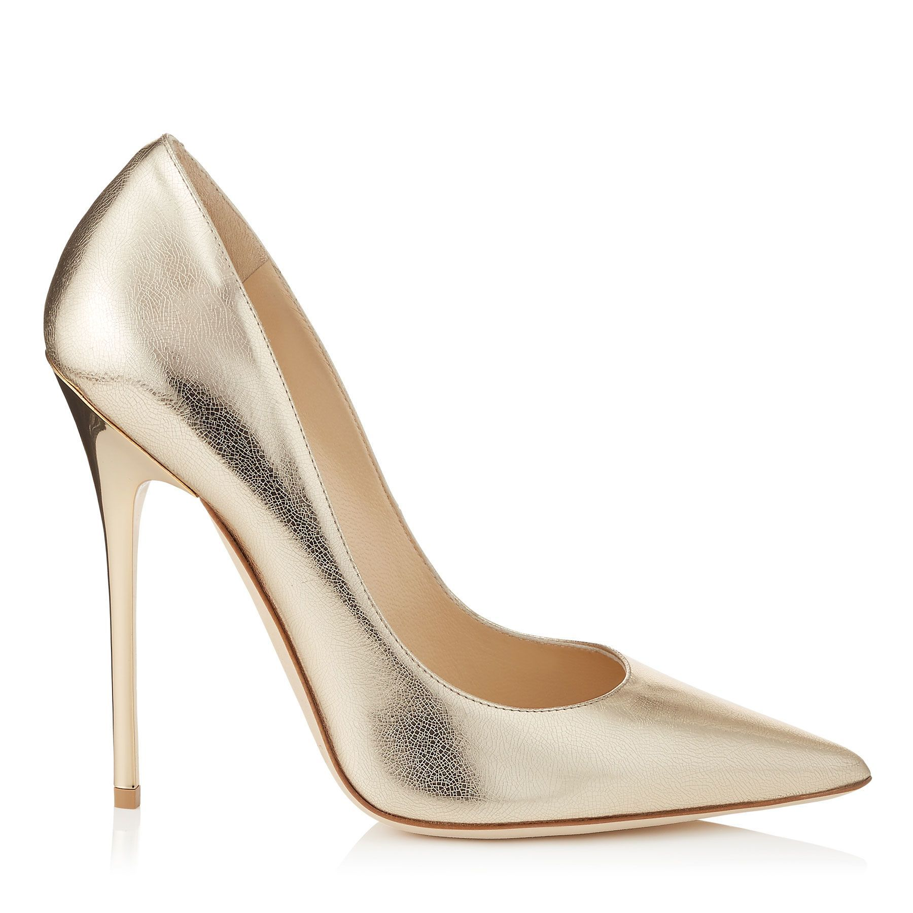 Nude Etched Mirror Leather Pointy Toe Pumps   Anouk   Pre Fall 15   JIMMY  CHOO