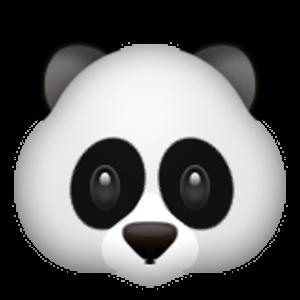 Panda Face Bayi Hewan Ilustrasi Karakter Ilustrasi