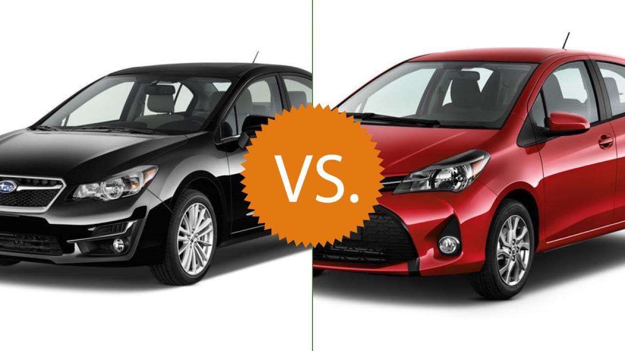 Compare 2016 Subaru Impreza Vs 2016 Toyota Yaris Chevrolet