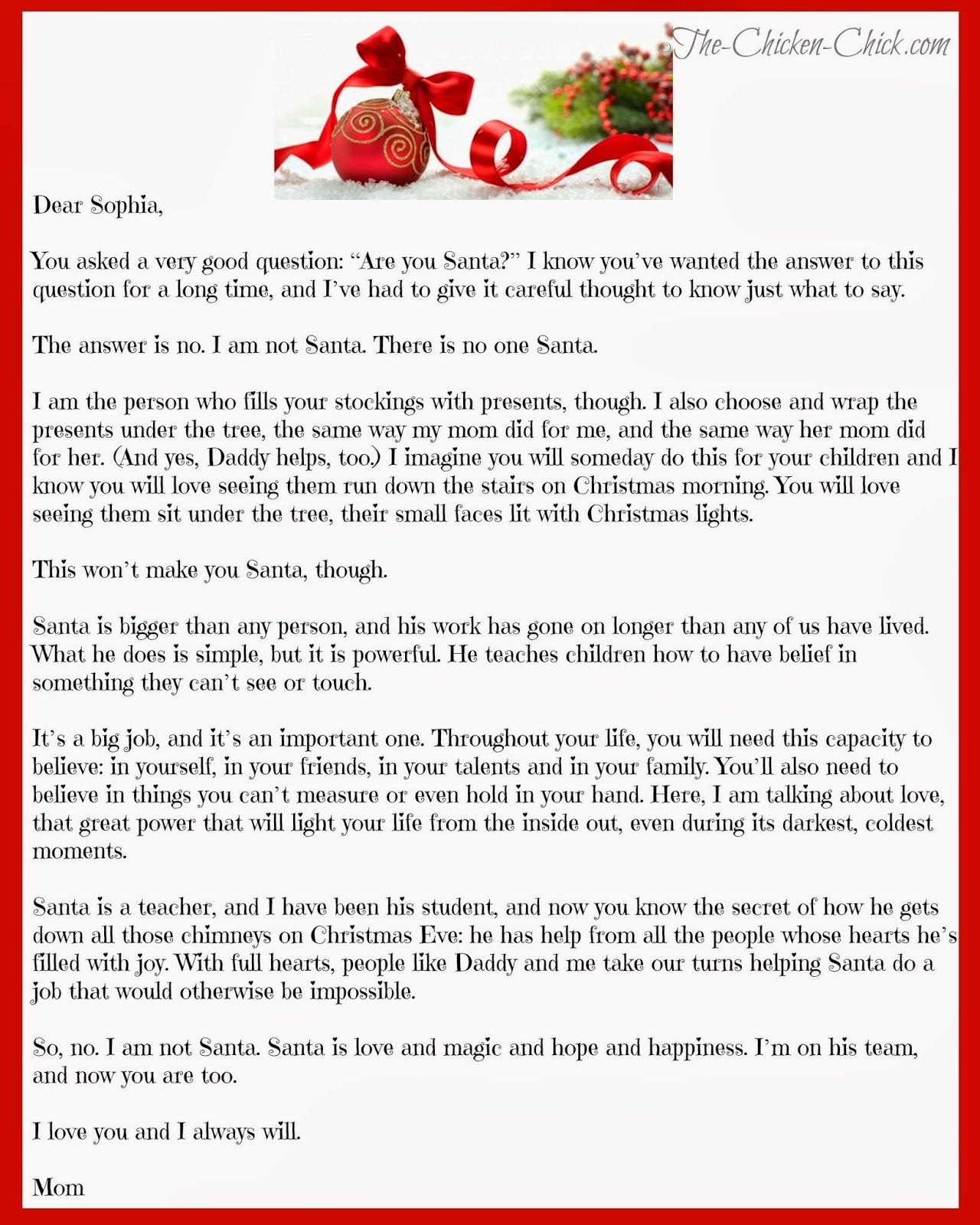 """Mom, How Can Santa Be Real?"" The Truth About Santa"