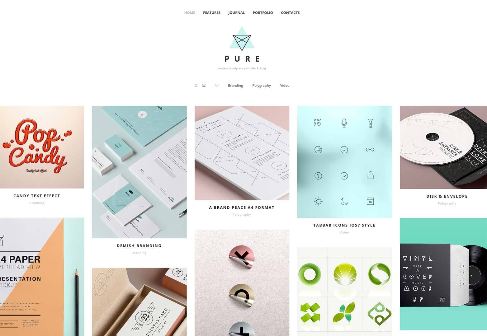 Pure Free WordPress Theme | Pinterest | Design development ...