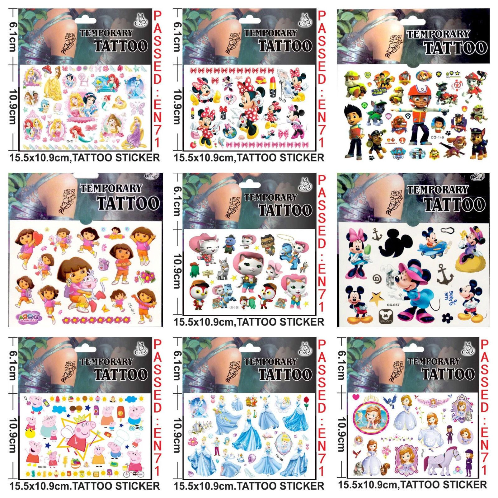 Kids temporary #tattoos boys #girls #tattoos party bag loot bag #tattoo #stickers,  View more on the LINK: http://www.zeppy.io/product/gb/2/201609171534/
