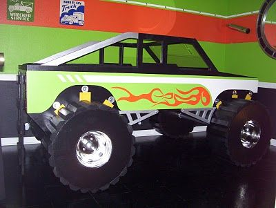 Fantasy Themed Monster Truck Twin Size Bed Kid Beds Monster Truck Bedroom Truck Toddler Bed