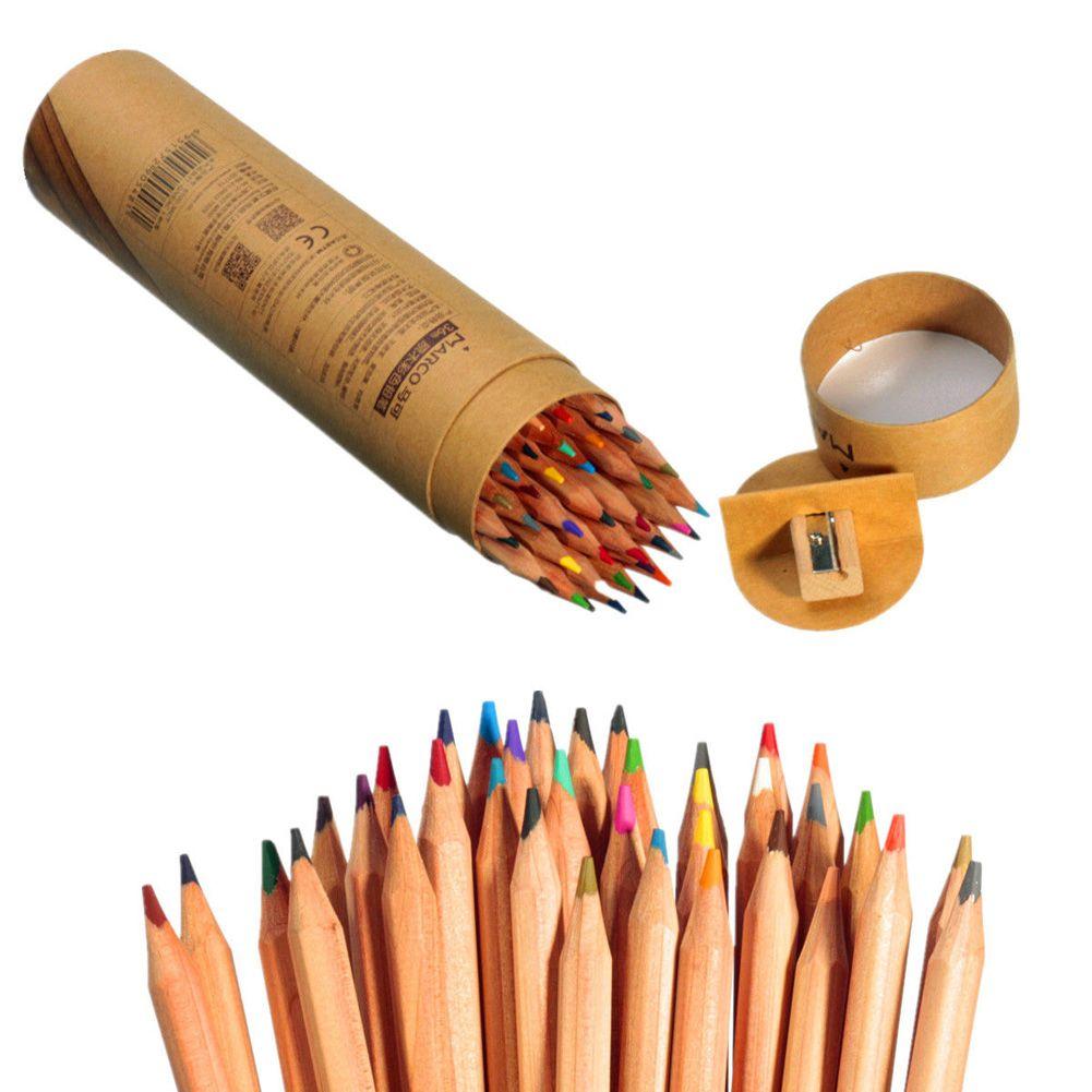 Color art colored pencils - Wholesale Professional Marco Raffine Fine Art Colored Pencils Set 36 Colors Sketch Drawing Color Pencil School