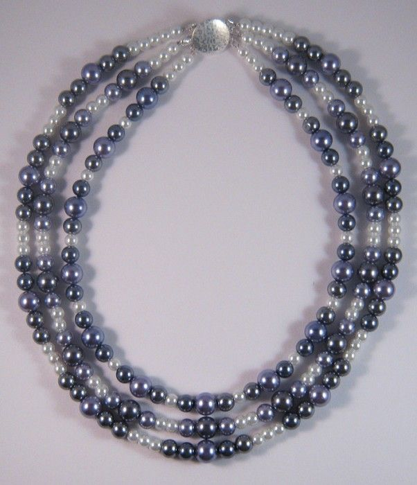 Timeless Lustre - Triple Strand Pearl Necklace - by PracticalGlamour on madeit