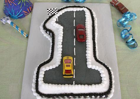 Remarkable Race Car First Birthday Cake Recipe Creative Birthday Cakes Funny Birthday Cards Online Hendilapandamsfinfo