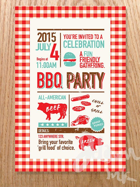 BBQ invitation design template available for download at http - bbq invitation template