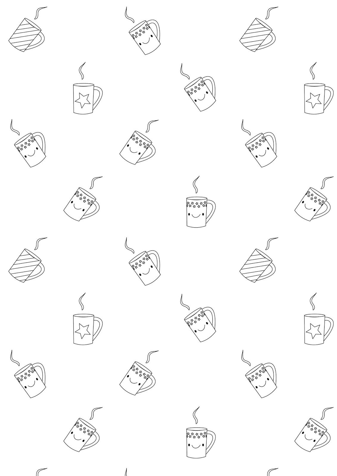 FREE printable coloring page | kawaii coffee | Crafts | Pinterest ...