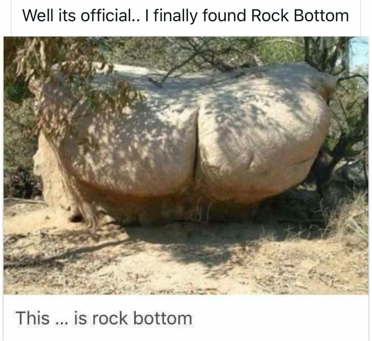 I Finally Reached Rock Bottom Bones Funny Funny Really Funny