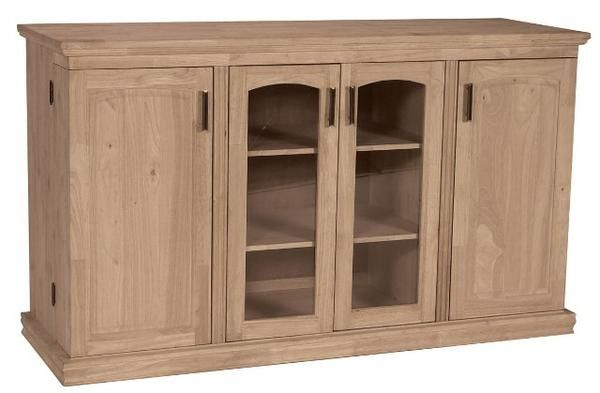 Unfinished Hardwood Entertainment Center Tv Stand
