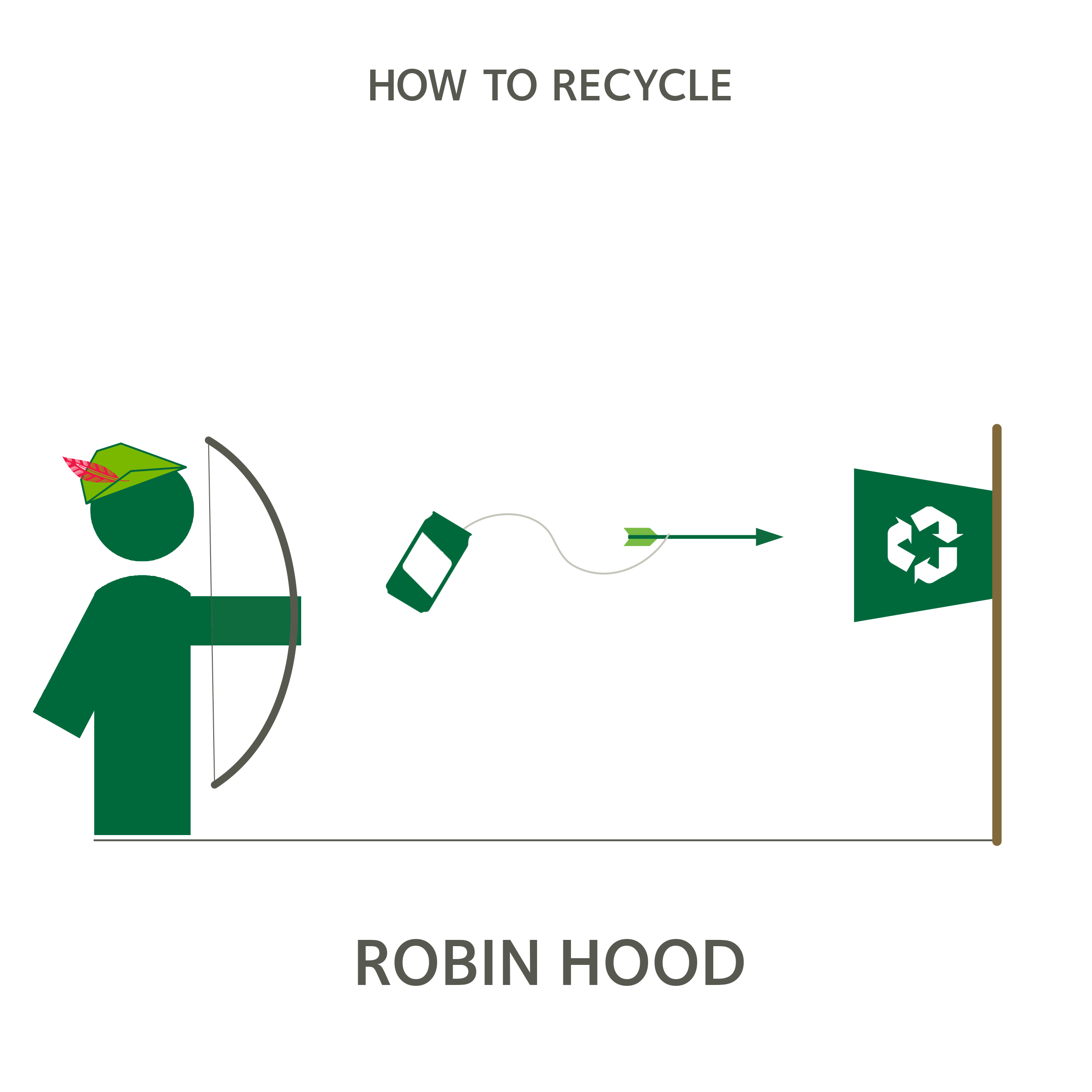 Saving The Day As Usual Howtorecycle Recycling Letters Robin Hood