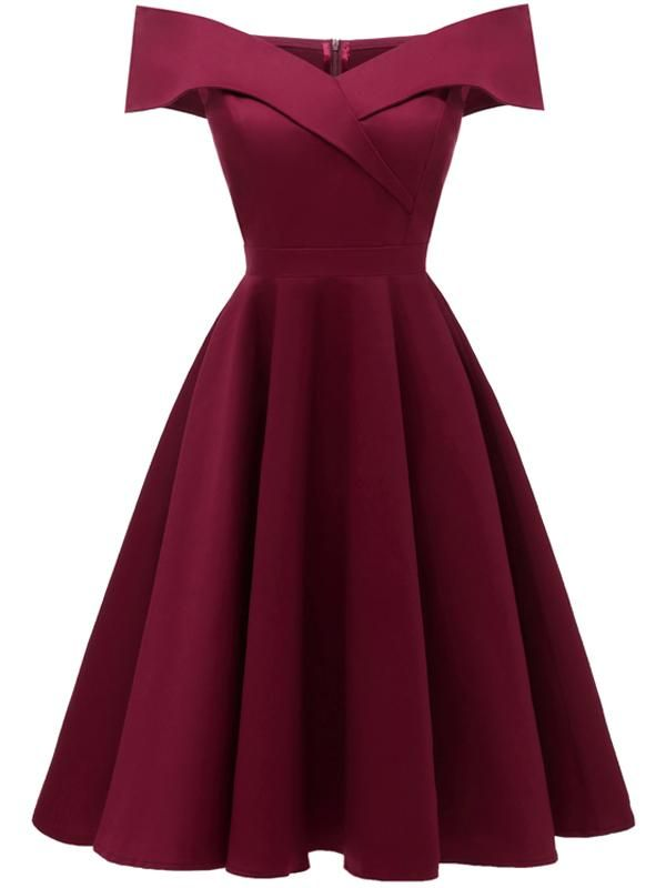 LaceShe Women's Off Shoulder Sleeveless Cocktail Party Dress