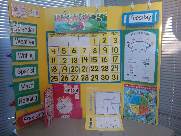 Kindergarten Calendar Center : Calendar homeschool kindergarten center