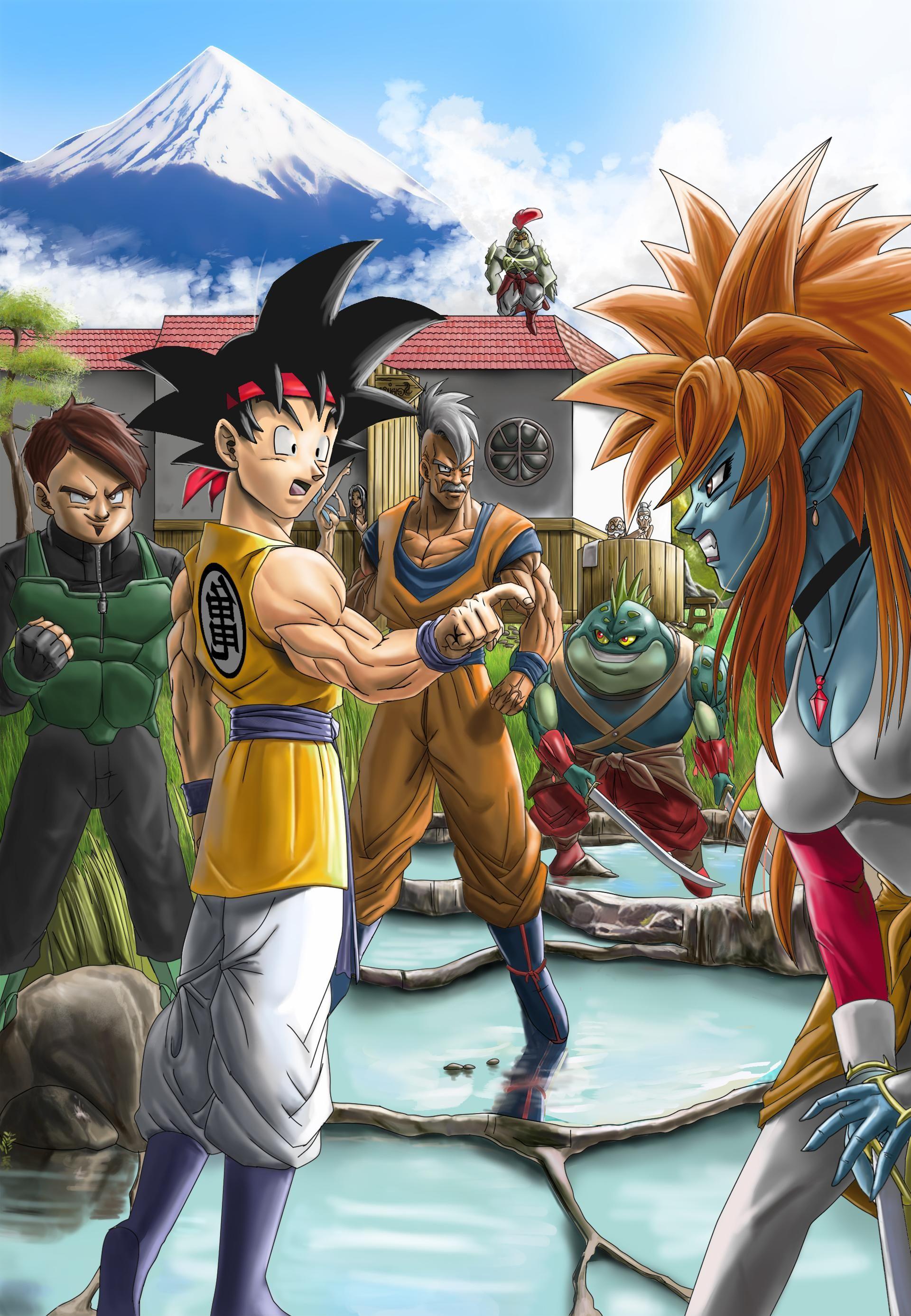 Goku Jr And Old Oob By Elitenappa On Deviantart In 2021 Dragon Ball Art Goku Dragon Ball Gt