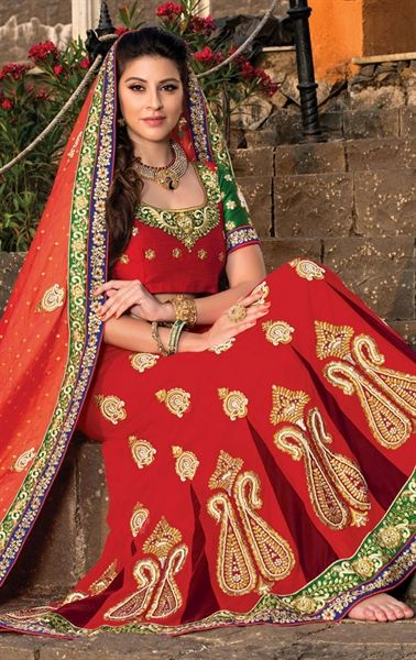 Ideal Red Color Lehenga Choli for Wedding