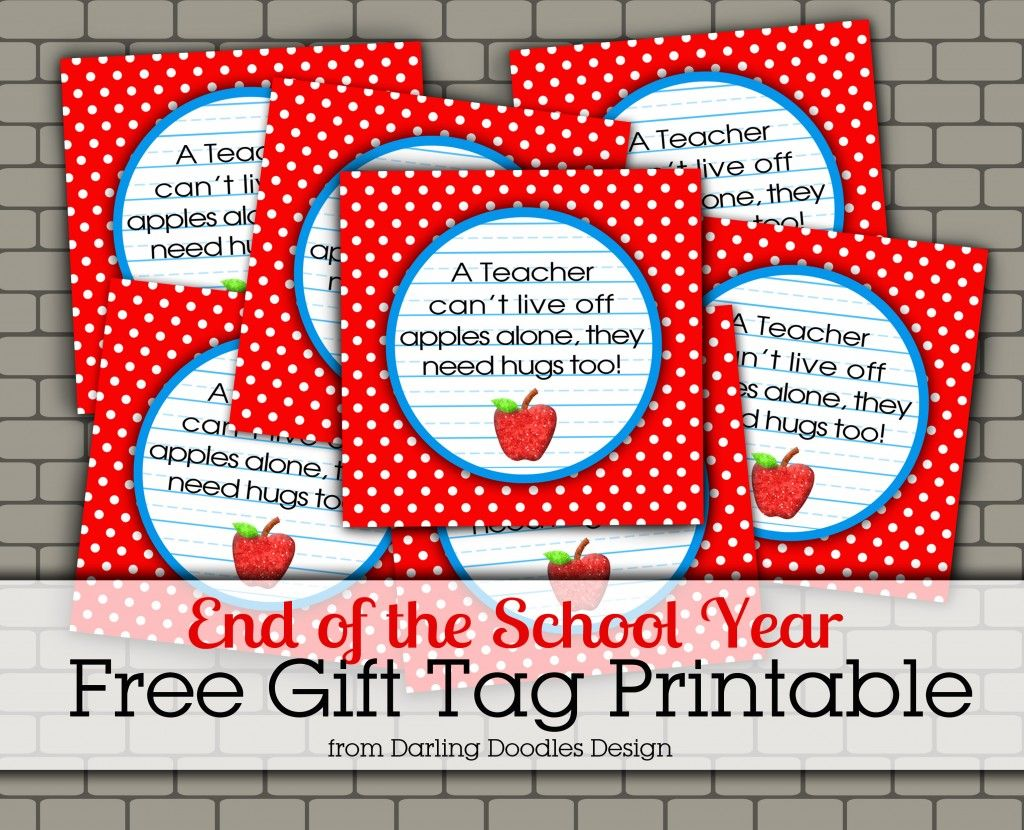 photograph about Free Printable Teacher Gift Tags named Lecturers Need to have Hugs Much too Present Tag- free of charge printable for the conclusion