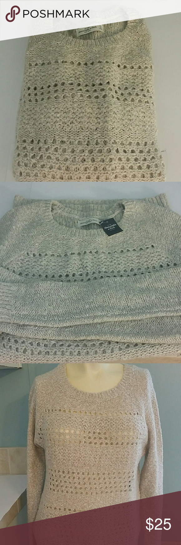 "NWT Abercrombie & Fitch sweater 29"" length  Sleeves 31"" length  Size is XS Abercrombie & Fitch Sweaters"