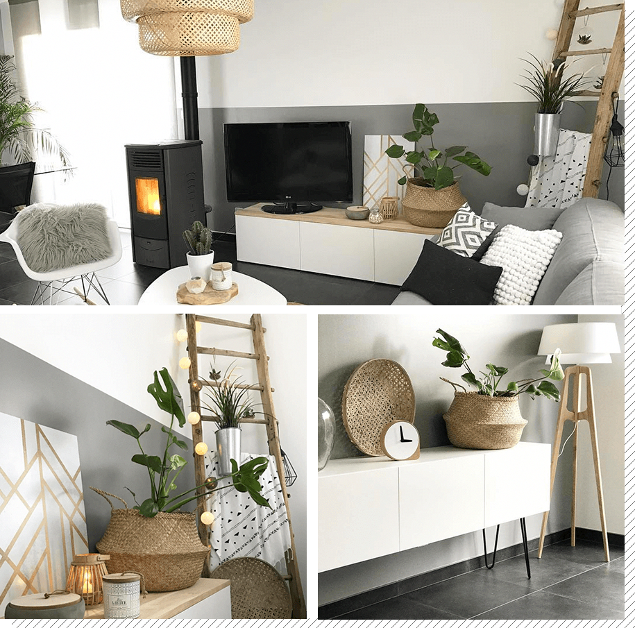 Dekoideen Wohnzimmer Un Salon Scandinave Contemporain #listed'achats ...
