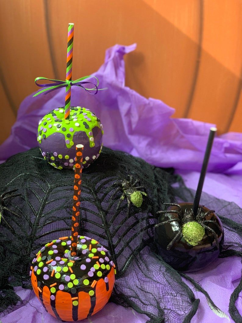 Faux Halloween Candy Apple Realistic Candy Apple Fake