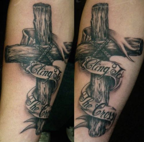Crown Of Thorns Cross Tattoo Cling To The Cross When Your Tattoos