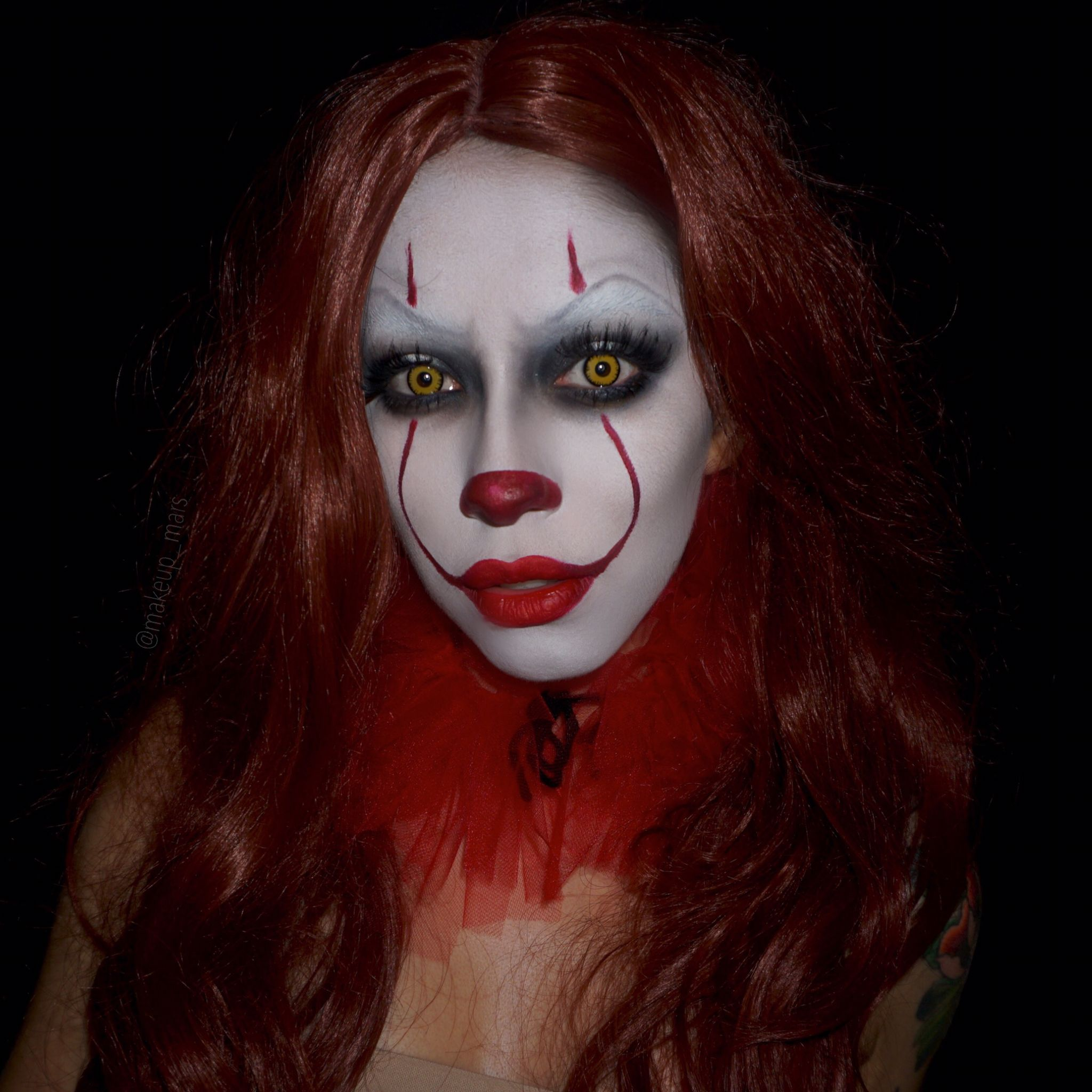 clown makeup pennywise the clown make up inspiration pinterest halloween kost m kost m. Black Bedroom Furniture Sets. Home Design Ideas