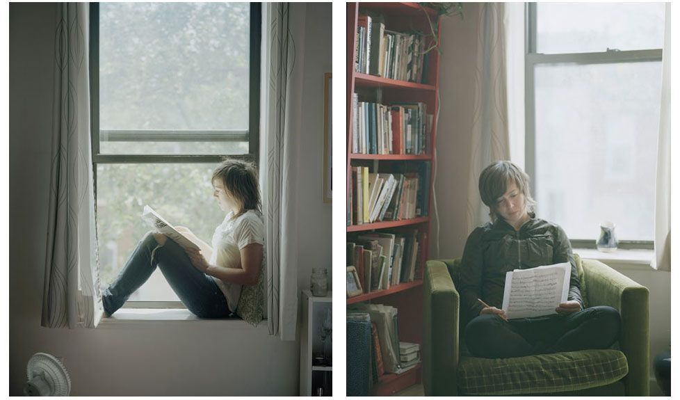 portraits of women reading by carrie schneider at http