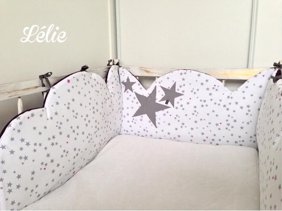 SUR COMMANDE Tour de lit nuage | bébé | Baby dresser, Baby sewing ...