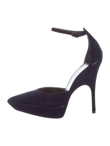 under 70 dollars visa payment cheap price Balenciaga Suede Pointed-Toe Pumps cheap sale deals visit online LluMX23zO