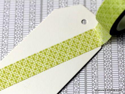 Masking tape/bande adhésive (vert clair) 15mm x 10m  : Masking tape par akseluna
