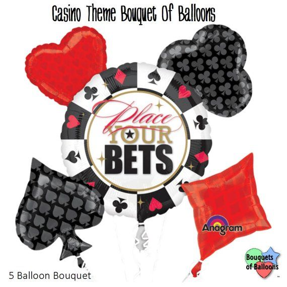 Casino Party Bouquet Of Balloons - Casino Night Party - Prom School