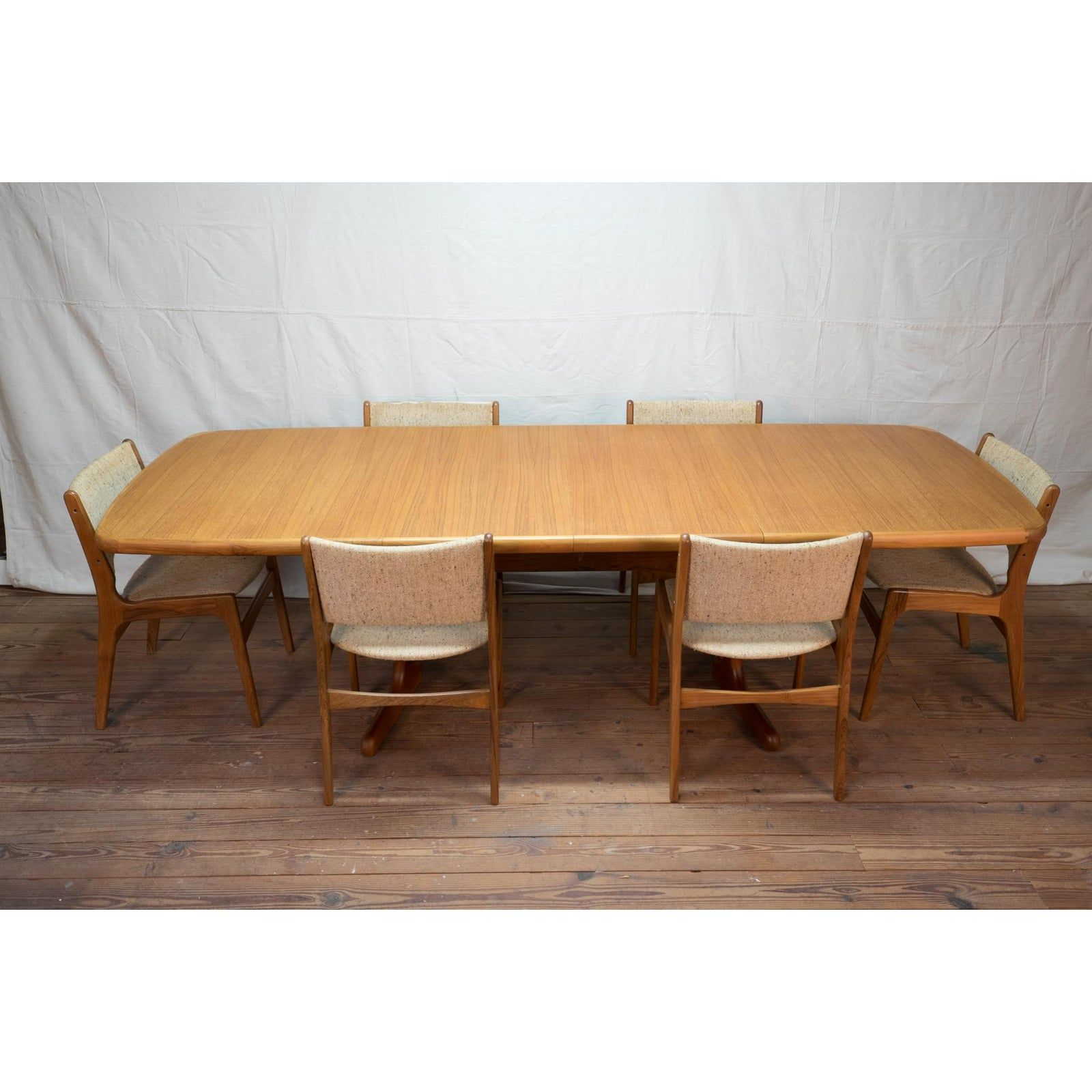 Danish Mid Century Modern Am Mobler Teak Dining Table And Six Erik Buch Chairs Chairish Dining Table Modern Conference Table Teak Dining Table