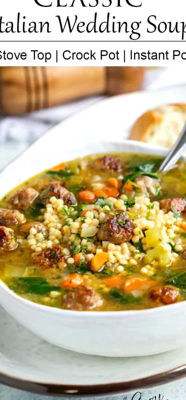 This Italian Wedding Soup can be made on the Stove Top
