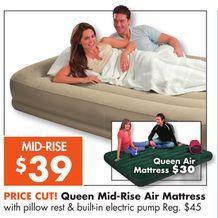 Queen Mid Rise Air Mattress From Big Lots 39 00 Reg 45 Big Lots Air Mattress Mattress