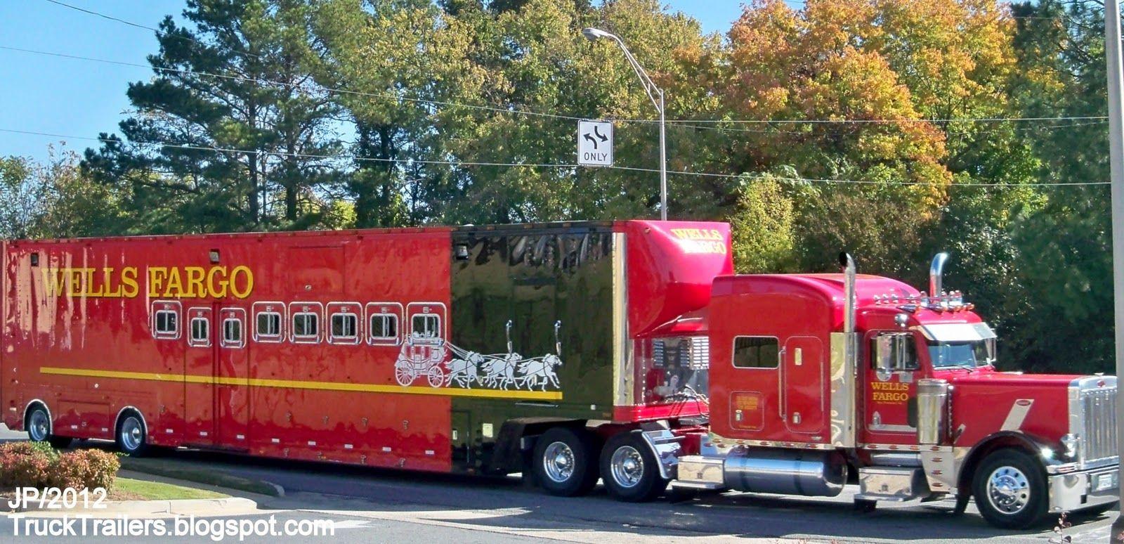 Wells Fargo Bank California Stagecoach Horse Team Trailer I-75 ...