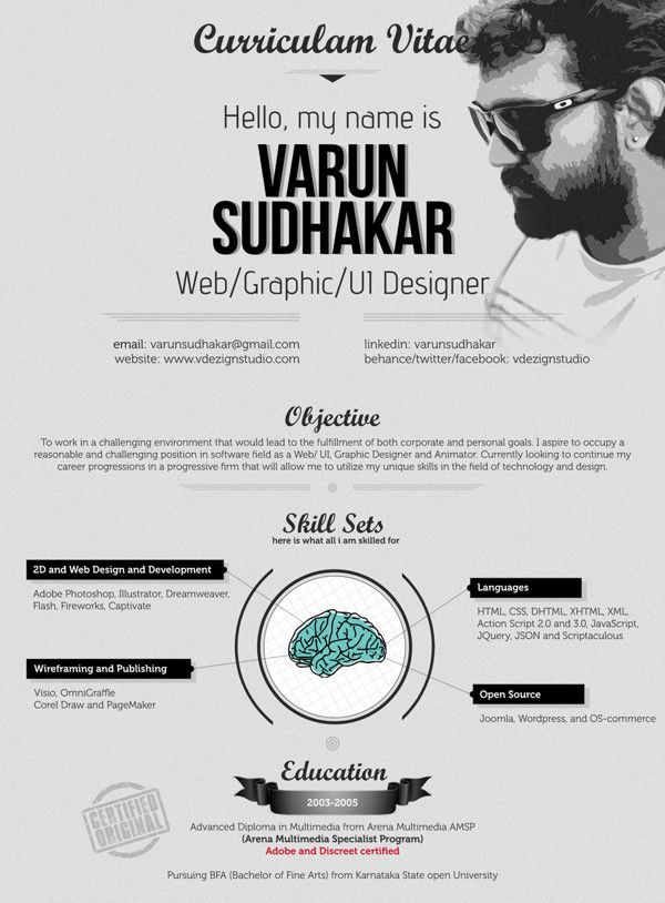 what to say as a graphic designer in a cv