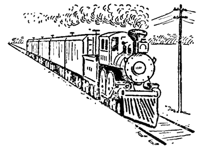 Drawing Trains in One Point Perspective with Easy Step by