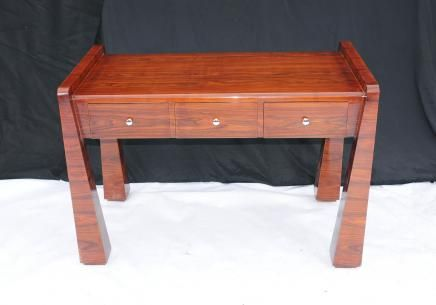 Rosewood art déco des années 1920 de bureau mobilier de bureau table décriture