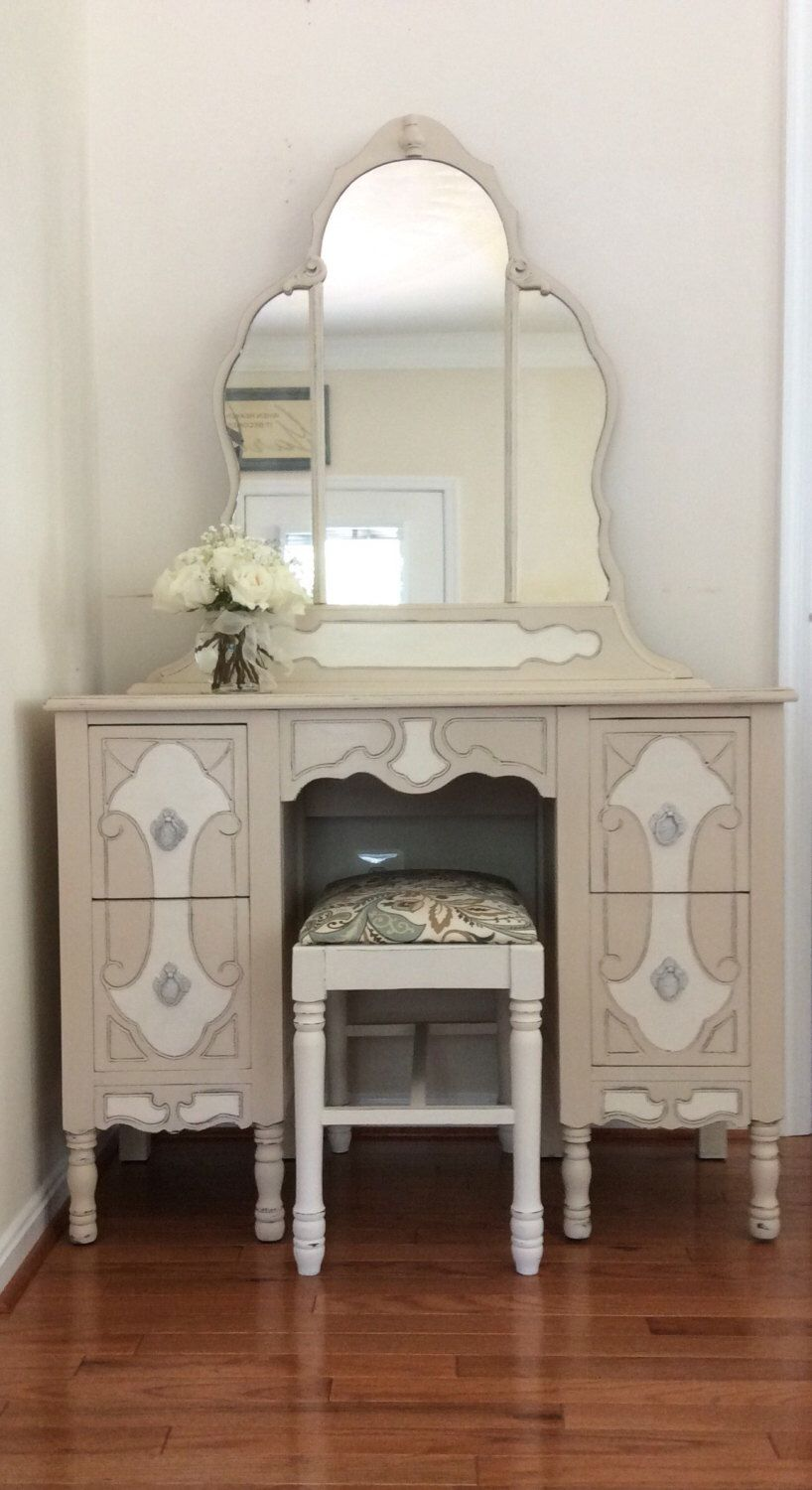 Painted Vanity, French Country, Cottage Chic Dressing ...