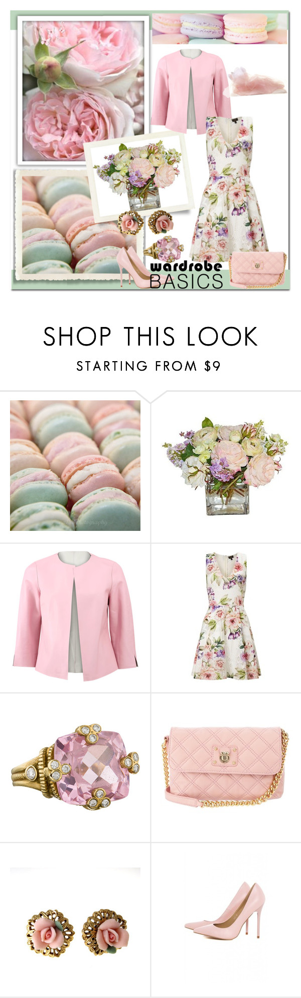 """""""Spring Jacket: Pastels"""" by dezaval ❤ liked on Polyvore featuring Pink Mint, ESCADA, Lipsy, Judith Ripka, Marc Jacobs, 1928, AX Paris, Noel Stewart and wardrobebasics"""