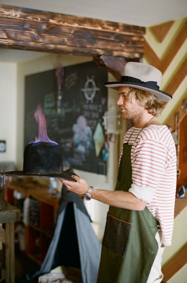 Burning hat.  www.nickfouquet.com/ The hat maker  #hats