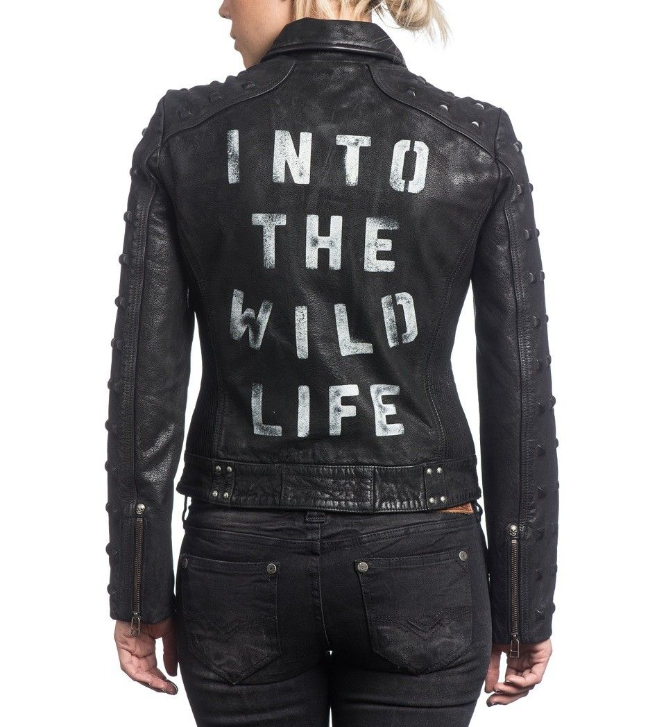 Into The Wildlife Autographed Leather Jacket (Women's
