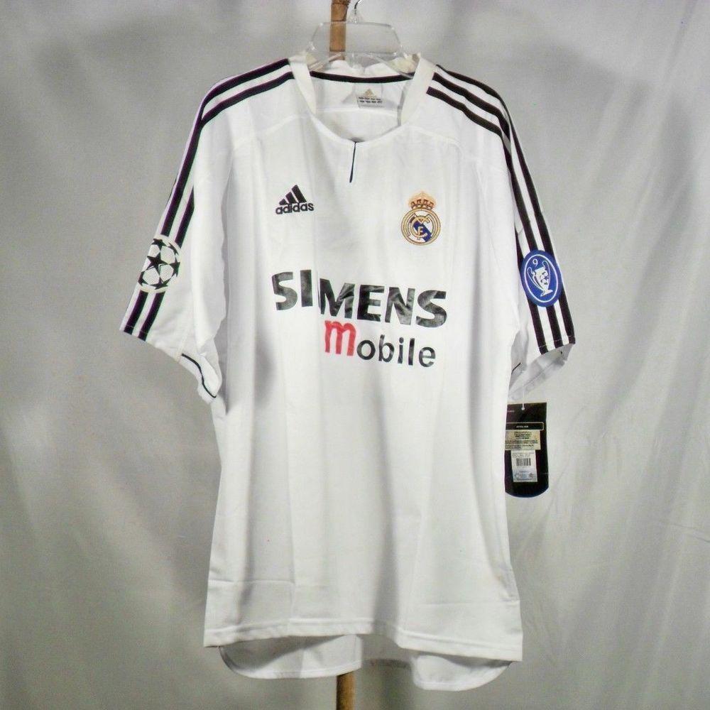 8d1812900 David Beckham Real Madrid Soccer Team Men White Retro Soccer Jersey Medium  New (eBay Link)