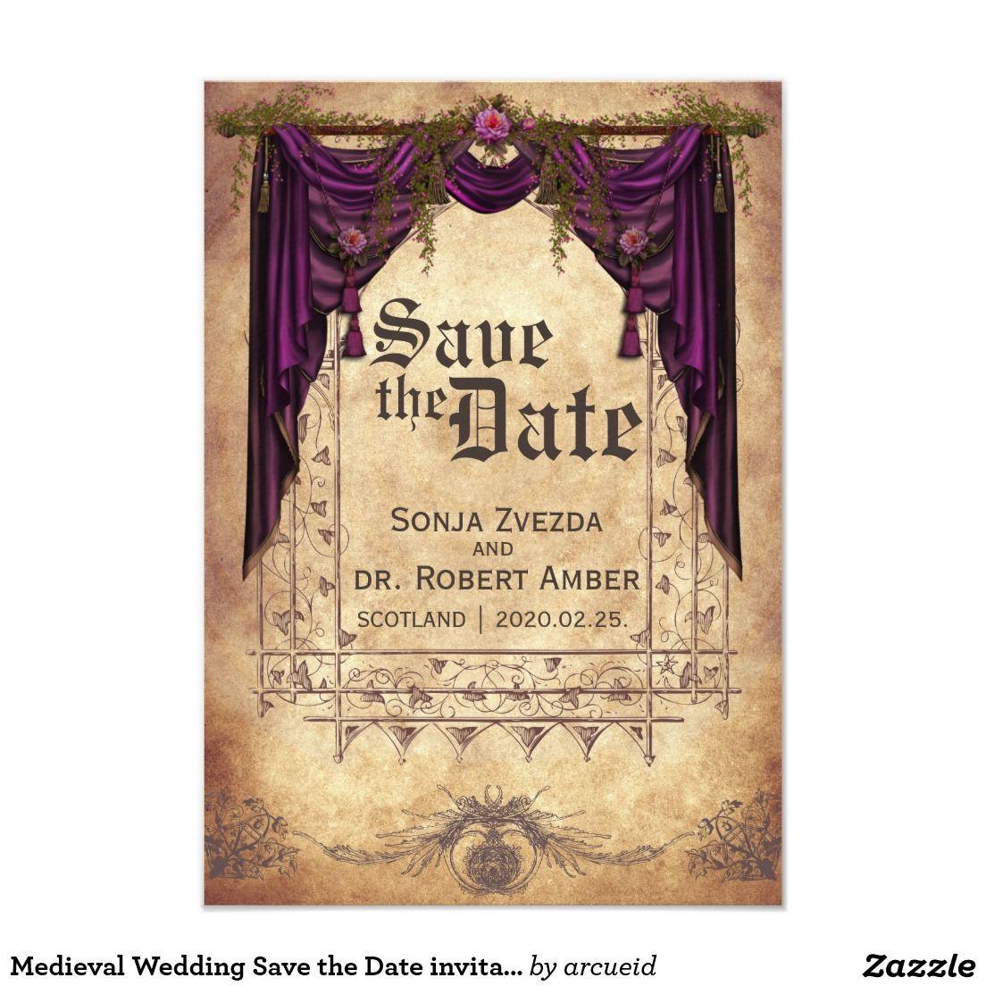 medieval wedding invitations - HD1104×1104