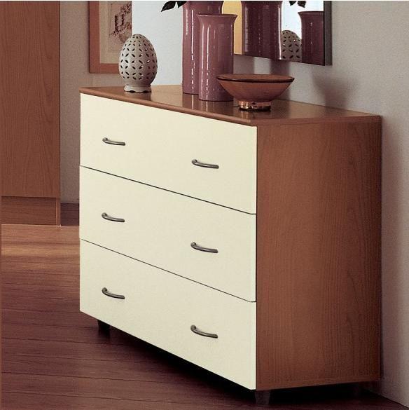 cassettiera tre cassetti camera da letto ciliegio magnolia art ... - Cassettiera Da Camera