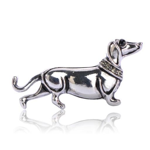 Lux Broszka Srebrny Pies Jamnik 8320985676 Oficjalne Archiwum Allegro Collar Jewelry Dog Brooch Trendy Fashion Jewelry